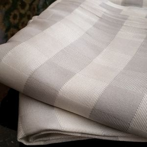 Curtains - silver and wite squares